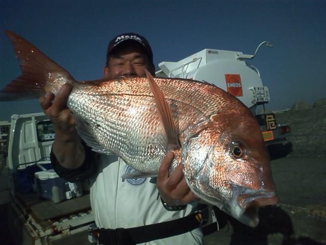 本日26日の最大5.6kgは釣情報の取材の方