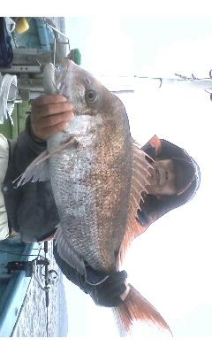 午前船の大石氏 昨年に続き今年も5.6kgの大型ゲット!!