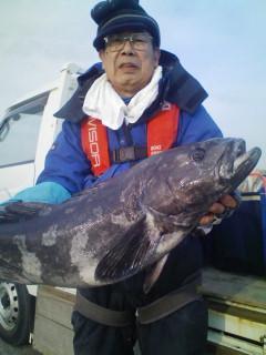 これは嬉しい外道!高級魚8.0kgのアブラボウズです。