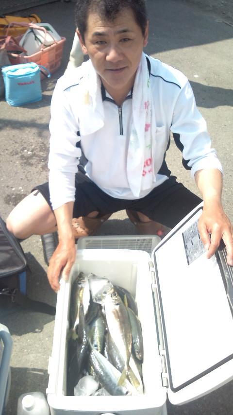 良型アジ大漁でした!!